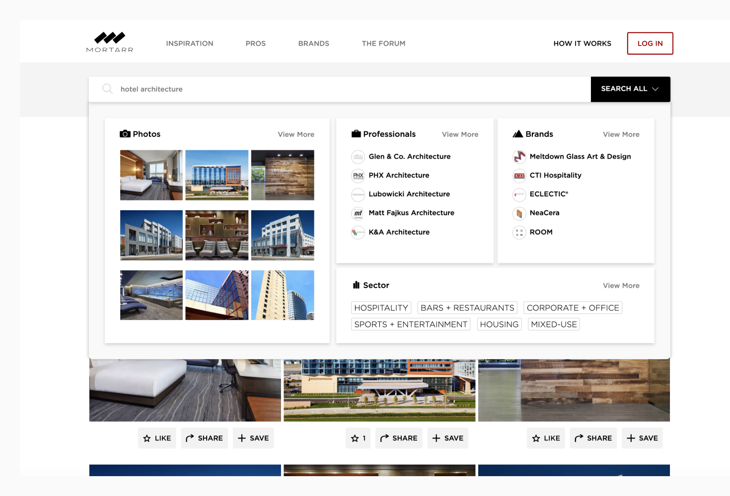 Online search-based marketing for construction companies, marketing for architecture firms, interior design marketing and products in the commercial industry.
